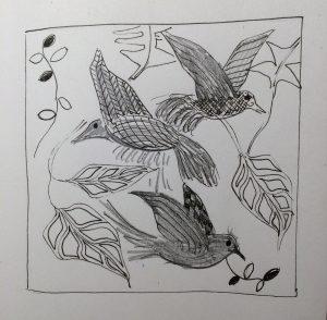 schets vogeltekening
